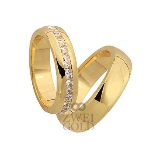 Beispiel: Trauringe in Gold, Foto: Zweigold.