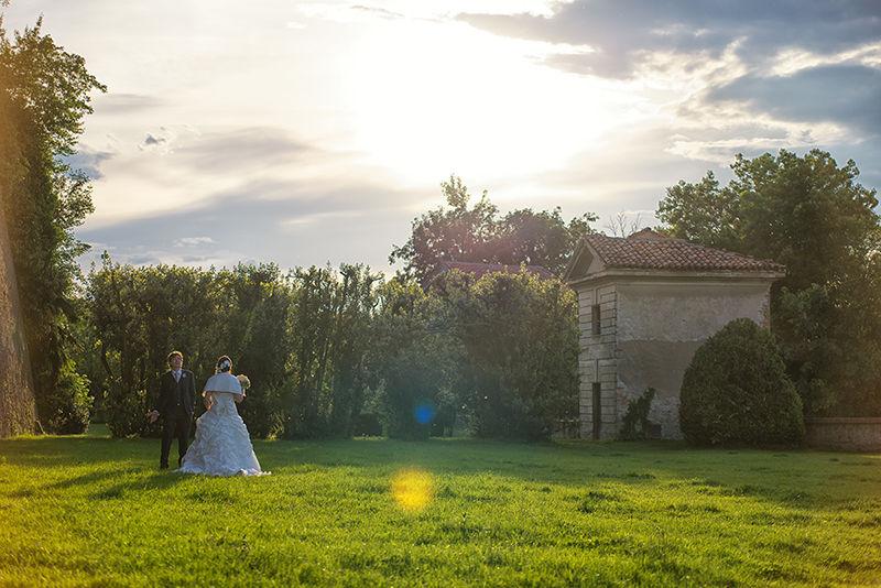 Gli sposi al castello di San Sebastiano Po