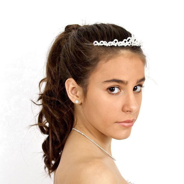 Arya Italian Jewels - Accessori Acconciatura matrimonio - Tiara Sposa con Swarovski