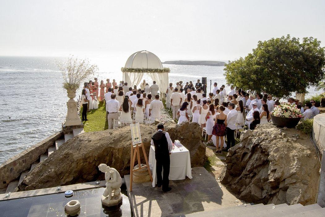 Ceremonia con vista al Mar!