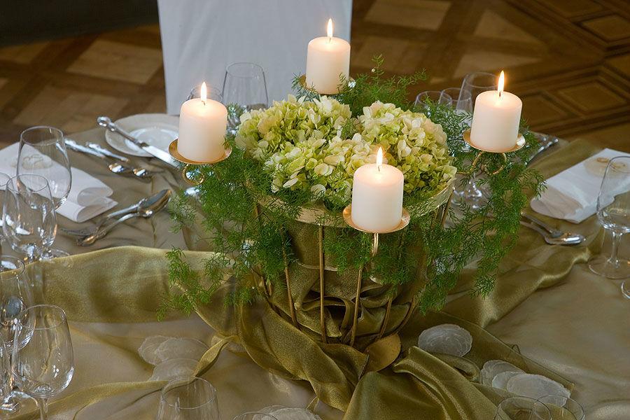 Beispiel:  Tischdekoration, Foto: Sonne Romantik Seehotel.