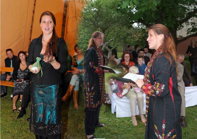 Beispiel: Schamanische Rituale, Foto: LEBENSFEIERN SONNENKLANG.