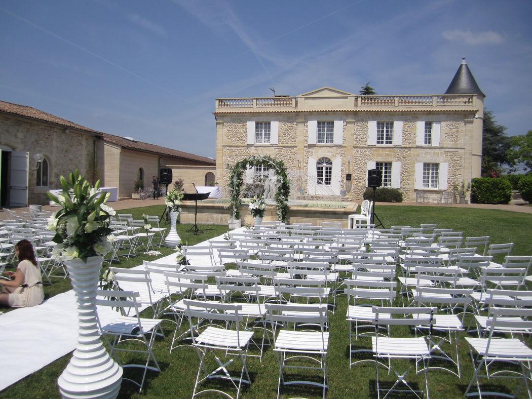 Château Lafitte - Cérémonie dans le parc