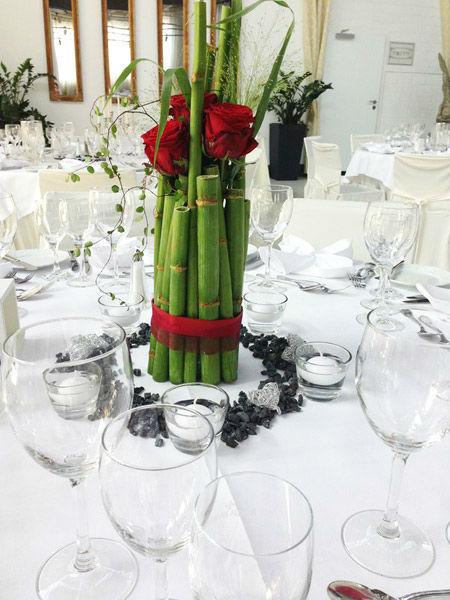 Beispiel: Tischdekoration, Foto: Blumen Bachmann.