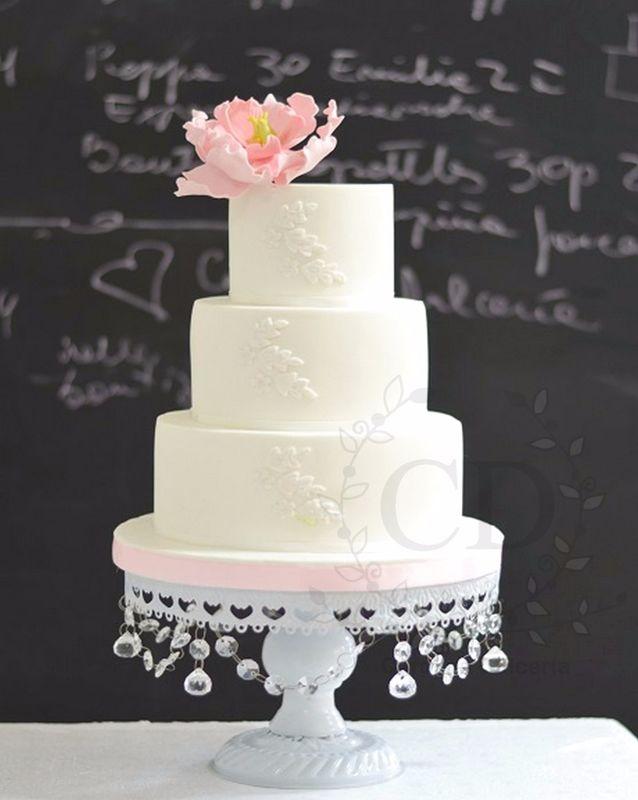 Torta peonía y encaje