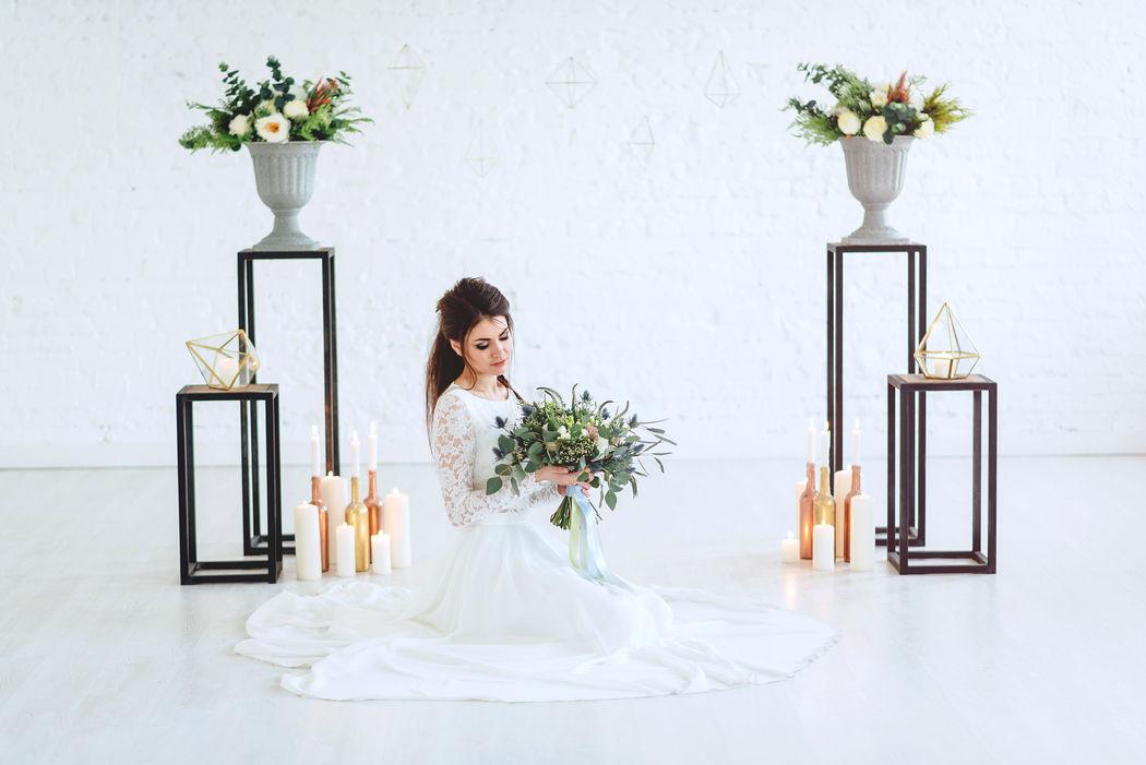 Свадебное вдохновение в цвете greenery