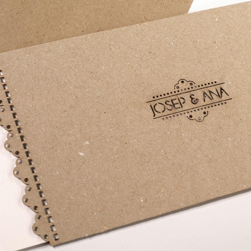 Invitación papel ecológico