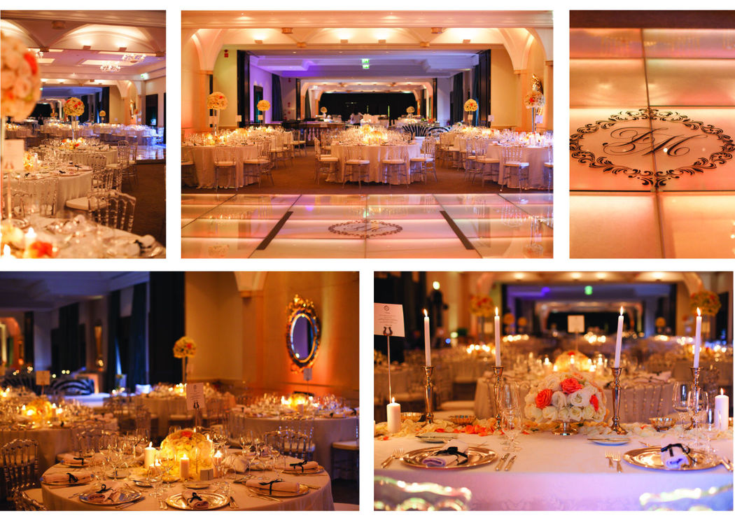 Enchanting Ballroom for a B&W themed wedding.