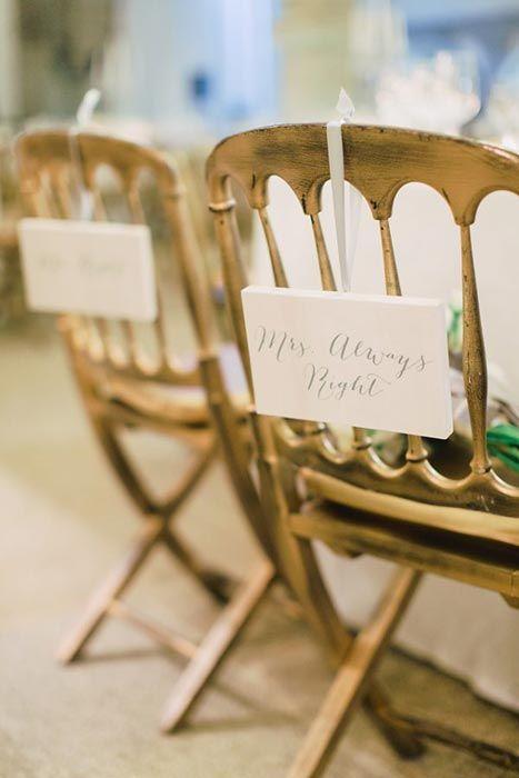 Plaquinhas para cadeira personalizadas