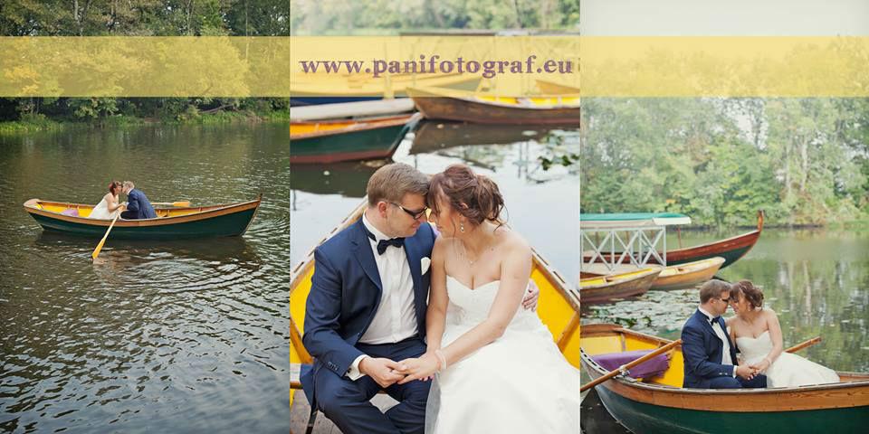 Para Młoda na środku jeziora