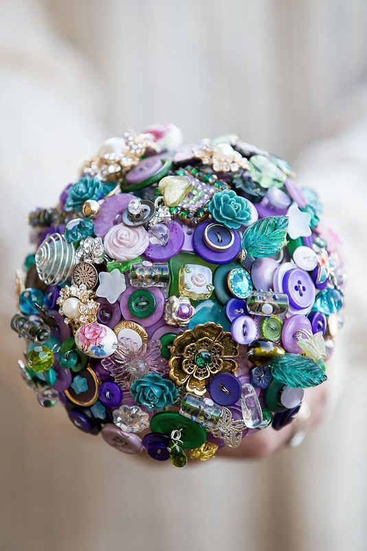 trinket box button bouquet