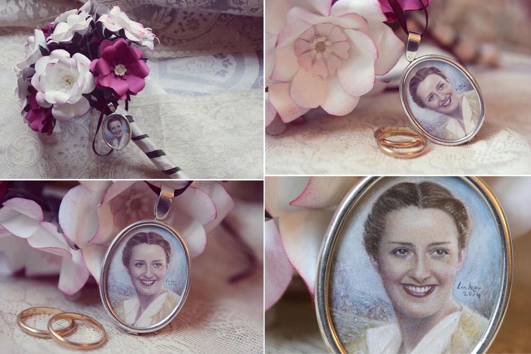 Para novias sentimentales y emotivas, una joya de arte única y personalizada.