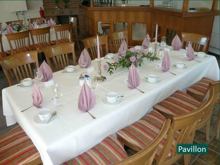 Beispiel: Feier im Pavillon, Foto: Hotel Rheinsberg am See.
