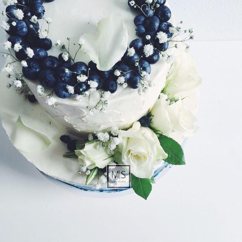 M|S cake studio || wedding blue ombre || внутри