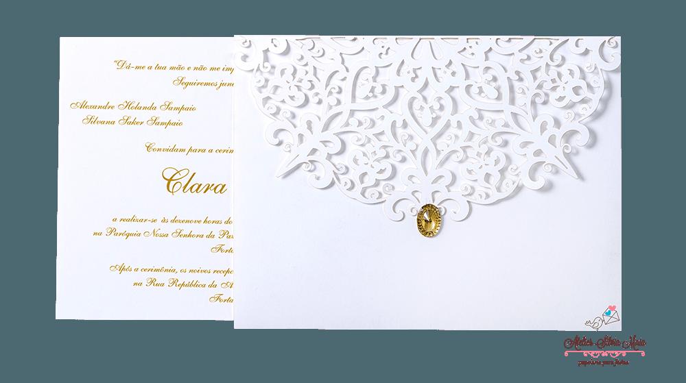 Convite Corte A Laser  - Ref . CL.028