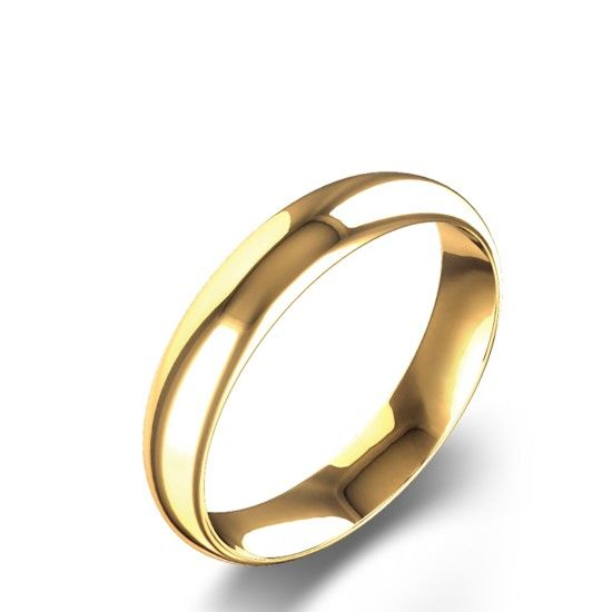 Alianza de oro amarillo clásica Navas Joyeos