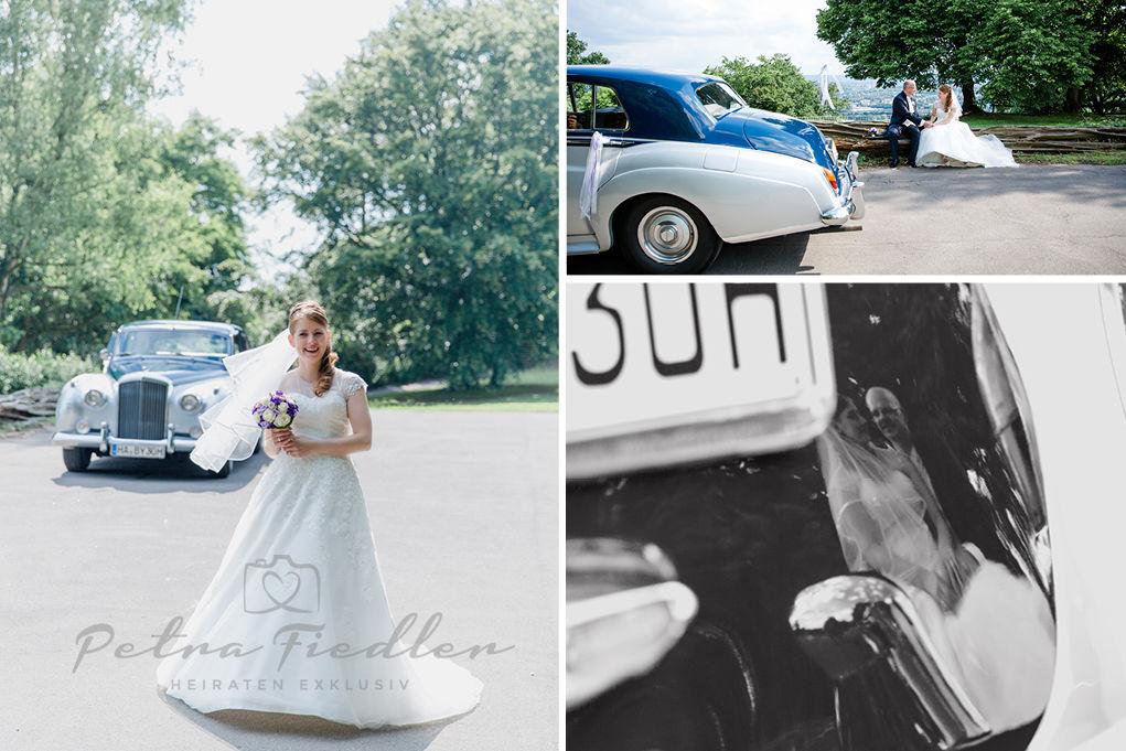 Hochzeitsportrait Patrizia & Jens und das chicke Auto