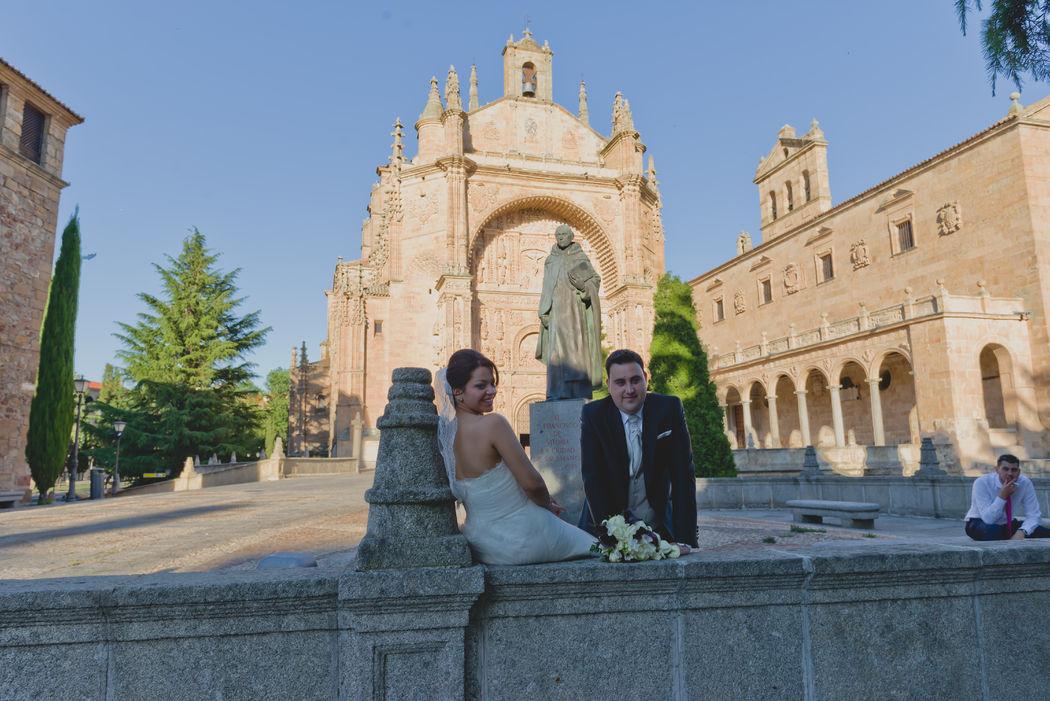 A la sombra a descansar de tanto calor en Salamanca