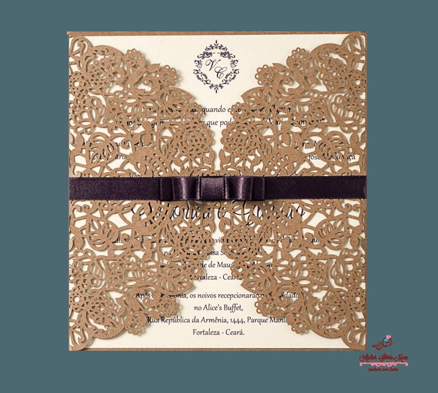 Convite Corte A Laser  - Ref . CL.030