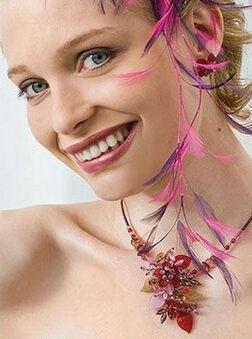 Bijou Bonheur Accessoires Cheveux Cérémonie Mariage - Coiffe Plumes Bicolore.
