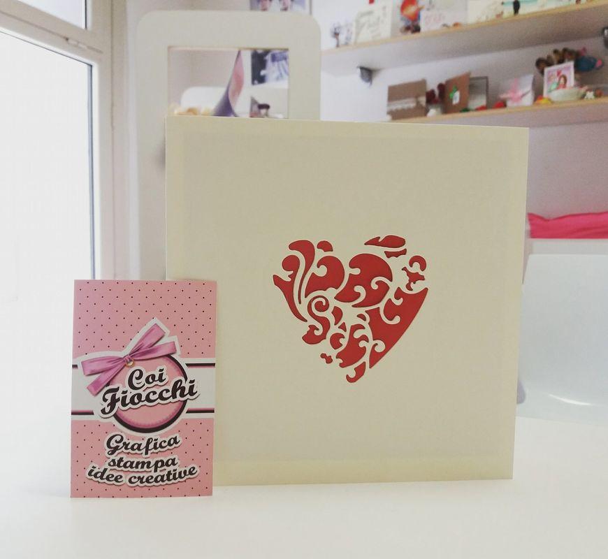 Coi Fiocchi wedding design - invito rosso&avorio