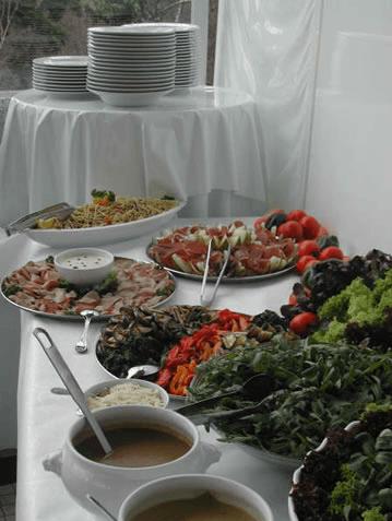 Beispiel: Buffet, Foto: Teehaus Weissenburgpark.