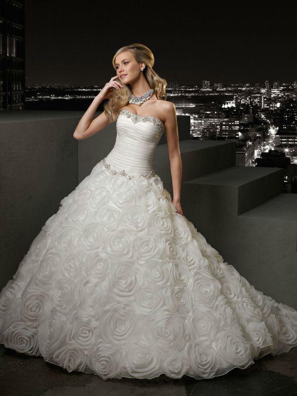 Beispiel: Wunderschönes Brautkleid, Foto: Silhouette.