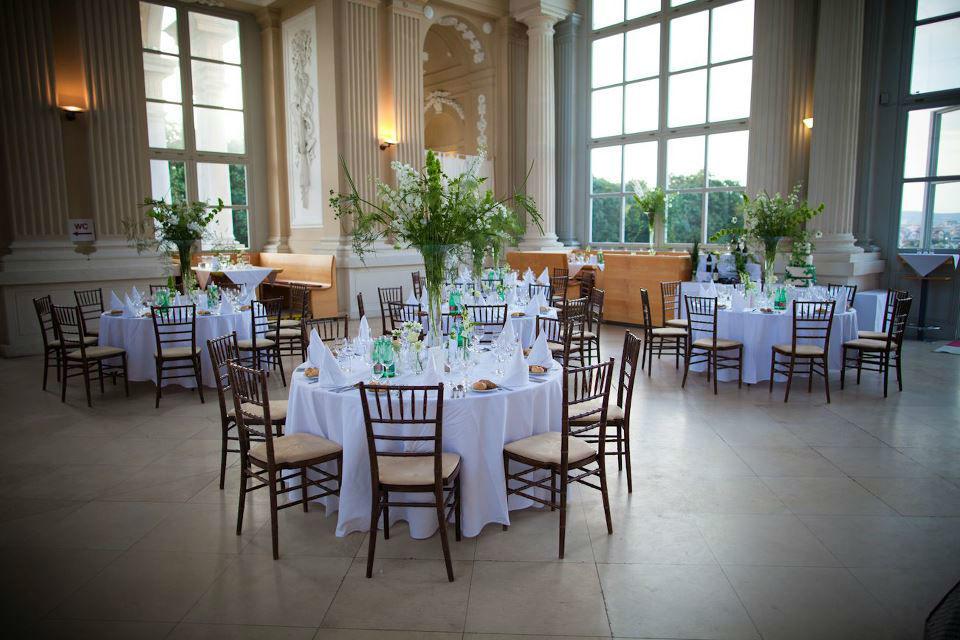Beispiel: Hochzeitssaal, Foto: Avorio Hochzeitsorganisation.