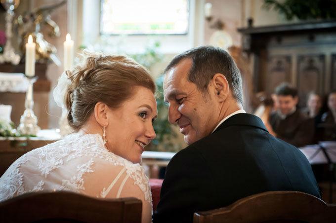 Beispiel: Während der Trauung, Foto: Hochzeitsfotografie Neuhofer.