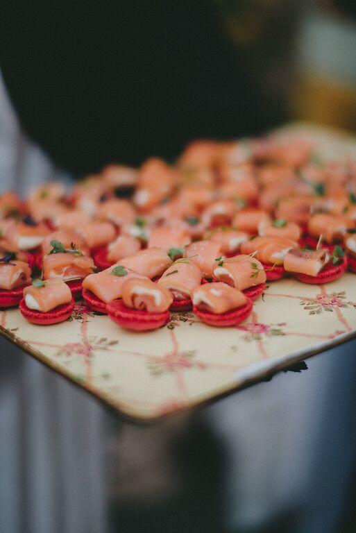 Salmón ahumado en macaron
