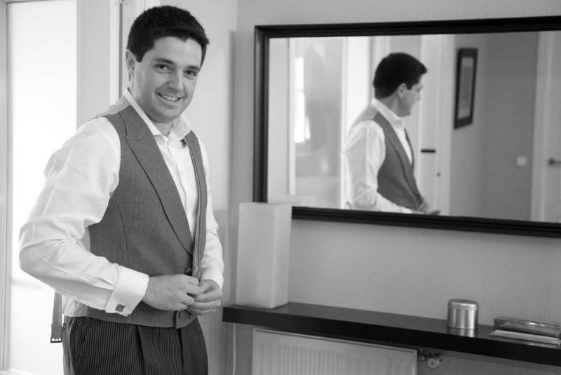 El novio, en blanco y negro