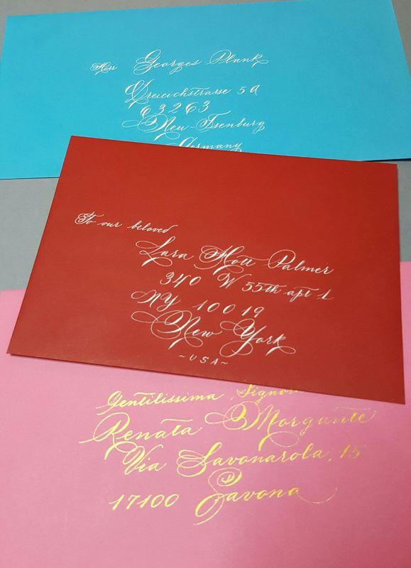 Il Calligrafo - Compilazione indirizzi su buste