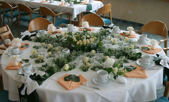 Beispiel: Bankett - Tischdekoration, Foto: Seehotel Luisenhof.