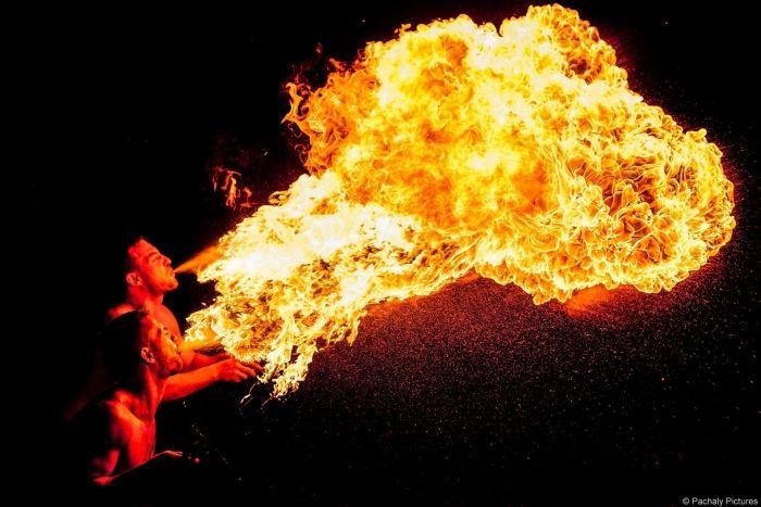 Hochzeit-Feuershow