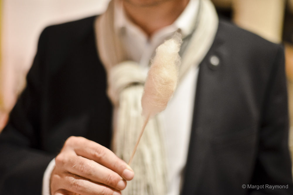 Barbe à papa de foie gras