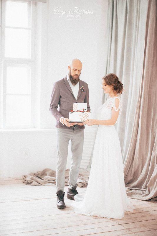 торт на свадьбу в норвежском стиле