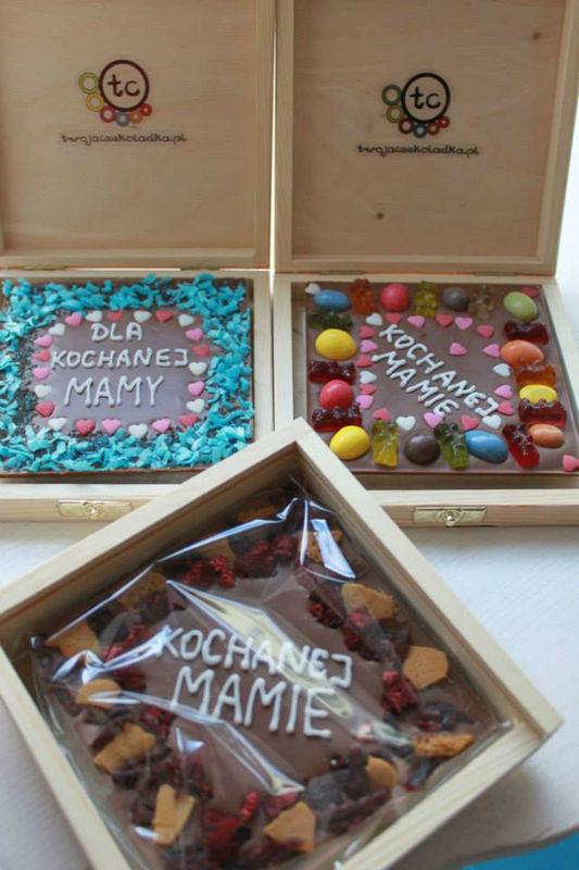podziękowania dla rodziców, gości, prezenty - spersonalizowane tabliczki czekolad z własnym napisem