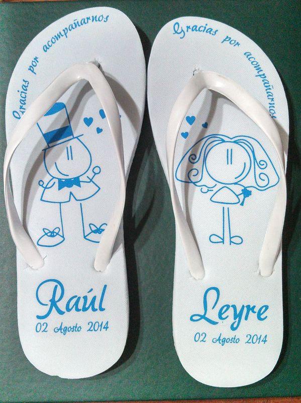 Sandalias personalizadas-Recuerdos de Bodas -15años