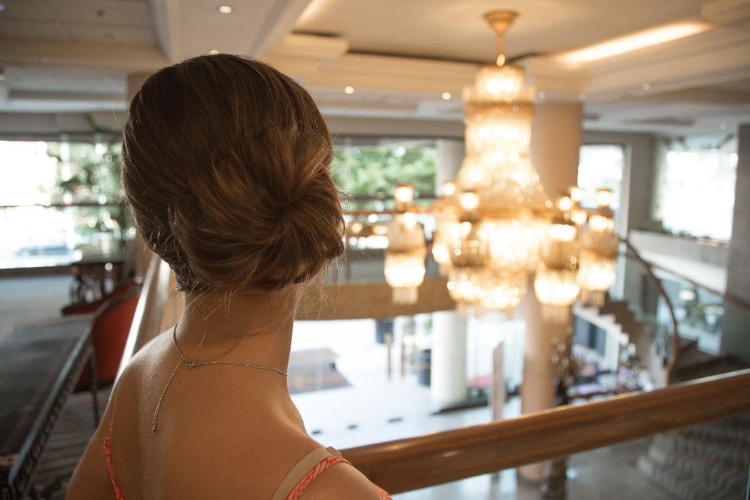 Detalle pelo - Prepraración de la novia