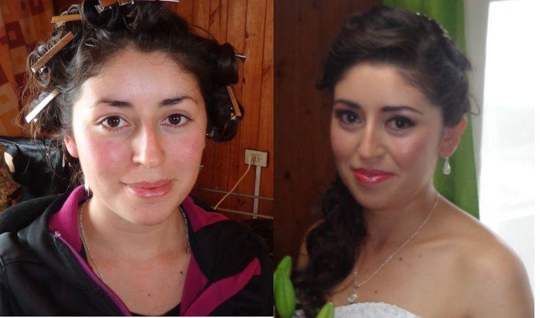 Antes y después look Novia