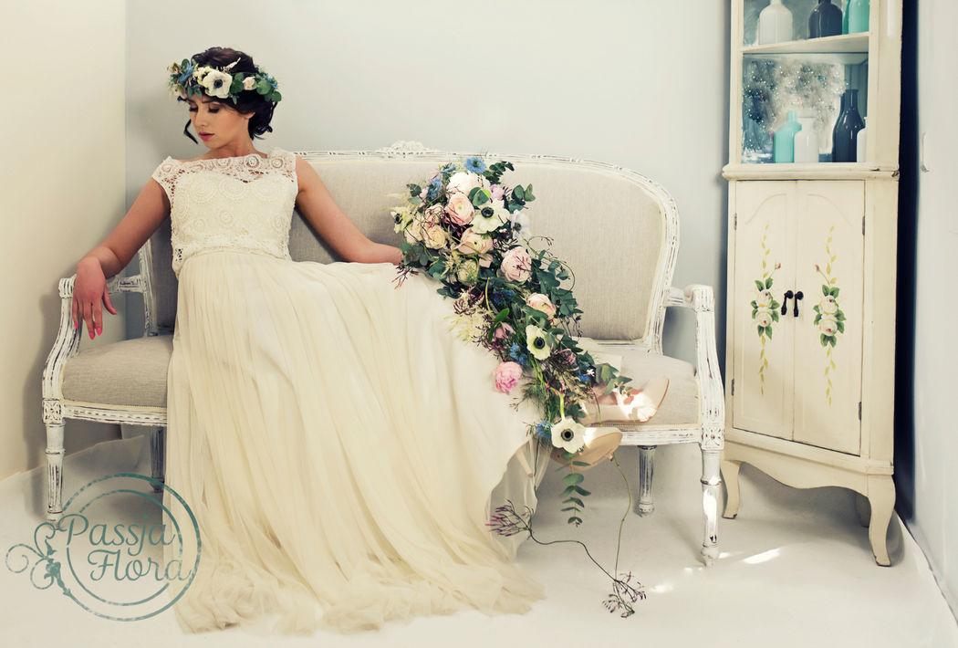 Kaskada i wianek ślubny
