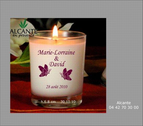 Alcante bougies et parfums mariage - Cadeau anniversaire mariage ...
