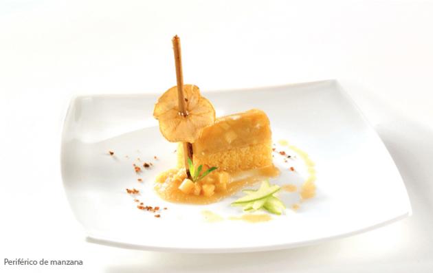 Periférico de manzana, uno de los postres selectos - Foto Banquetes Ambrosía