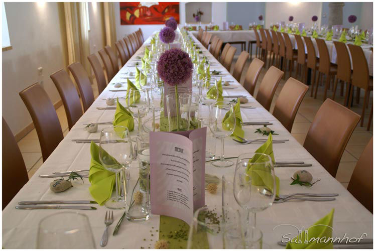 Beispiel: Hochzeitstafel, Foto: Sallmannhof.