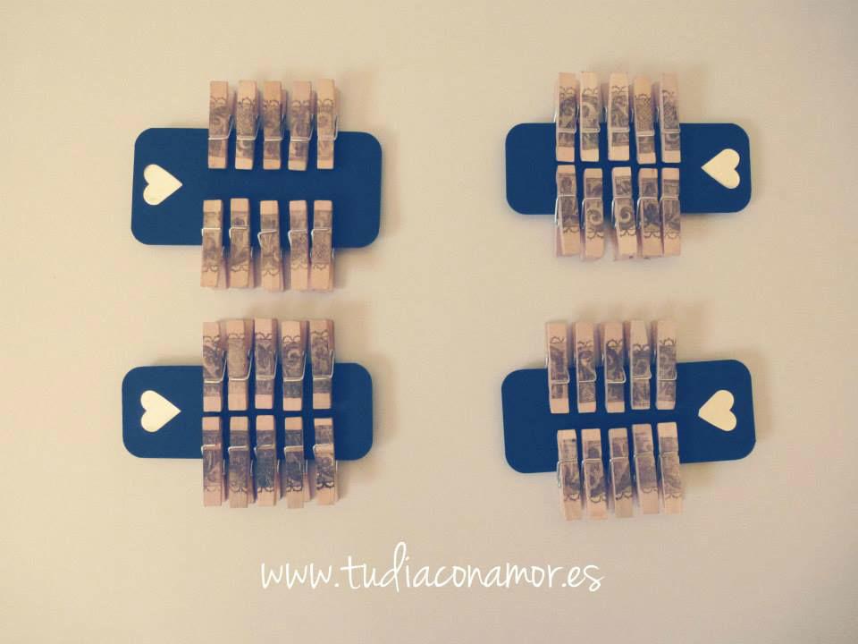Pinzas decoradas a mano
