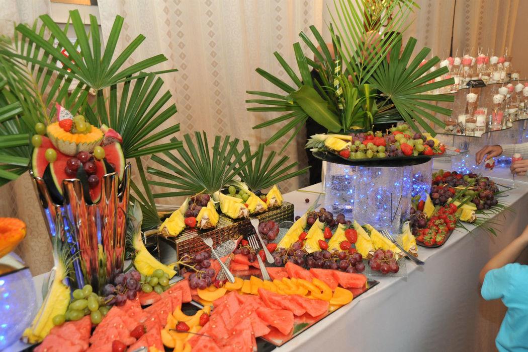 Le buffet de fruits de notre traiteur Arabesque Evenement