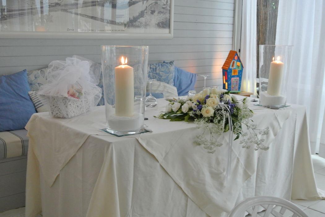Matrimonio al mare - Fil rouge Ibiza - Tavolo sposi