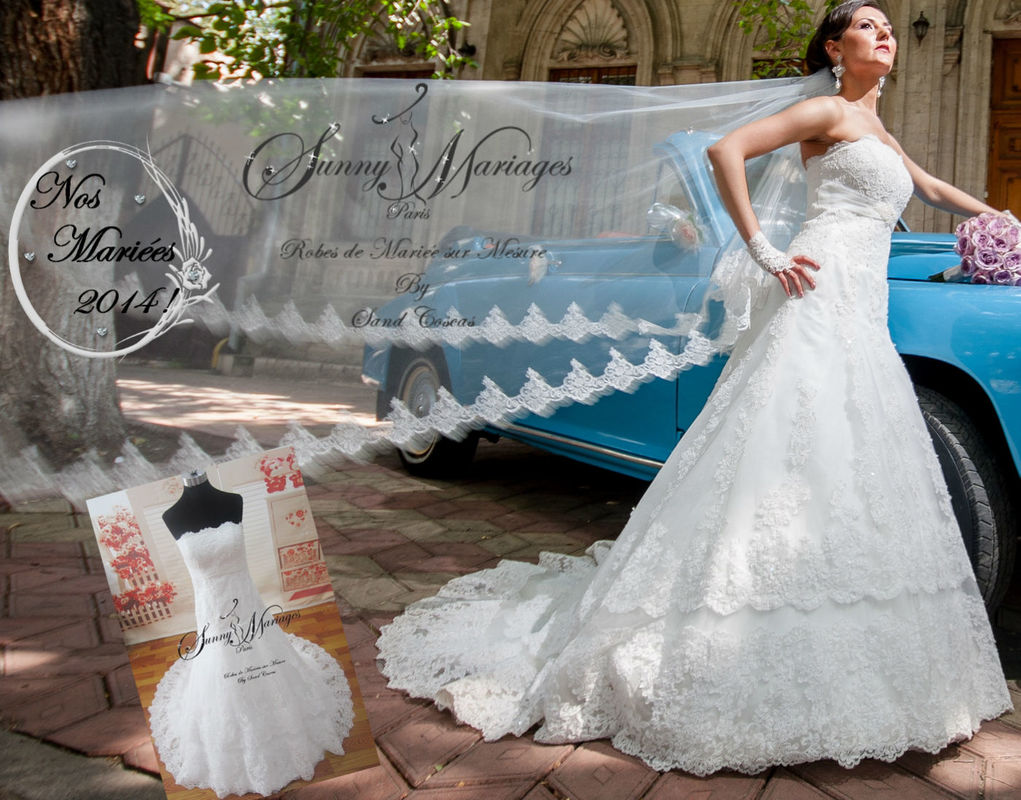 Nos mariées dans leurs robes le jour J !