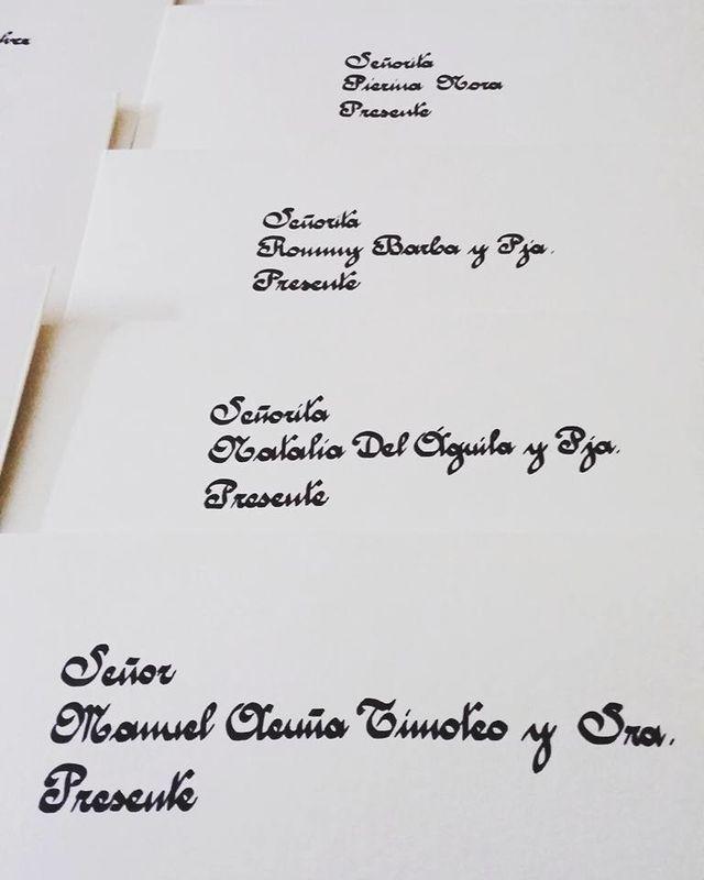 Caligrafiado de Invitaciones