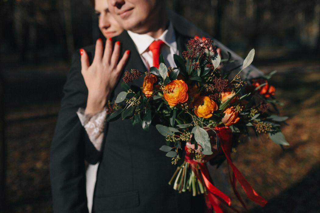Букет невесты Свадьба Autumn Rhapsody